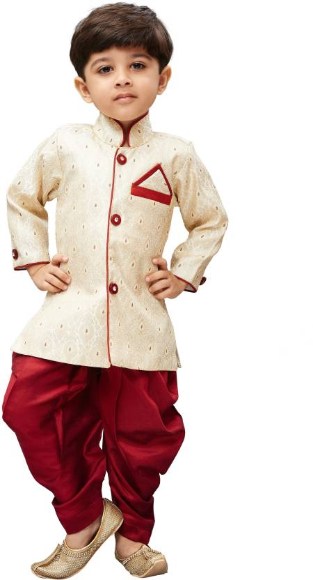 f754c90d6 JBN Creation Boys Festive & Party Kurta and Pyjama Set (Beige Pack of 1)