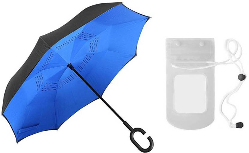 confidence waterproof umbrella with mobile cover for men and women