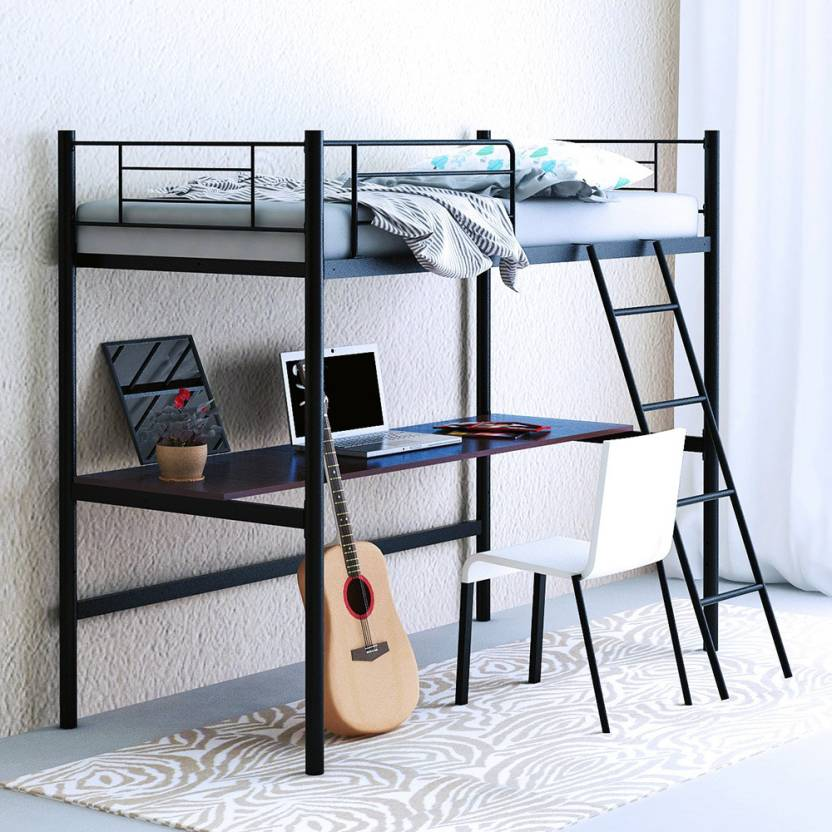 Camabeds Stooreys Twin Loft Bed With Extra Study Work Table Metal
