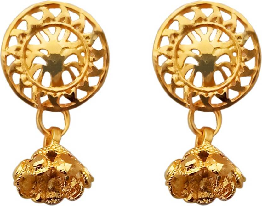 5ec1be94d Flipkart.com - Buy JewelMaze Gold Plated Stud Earrings-1311788 Alloy Stud  Earring Online at Best Prices in India