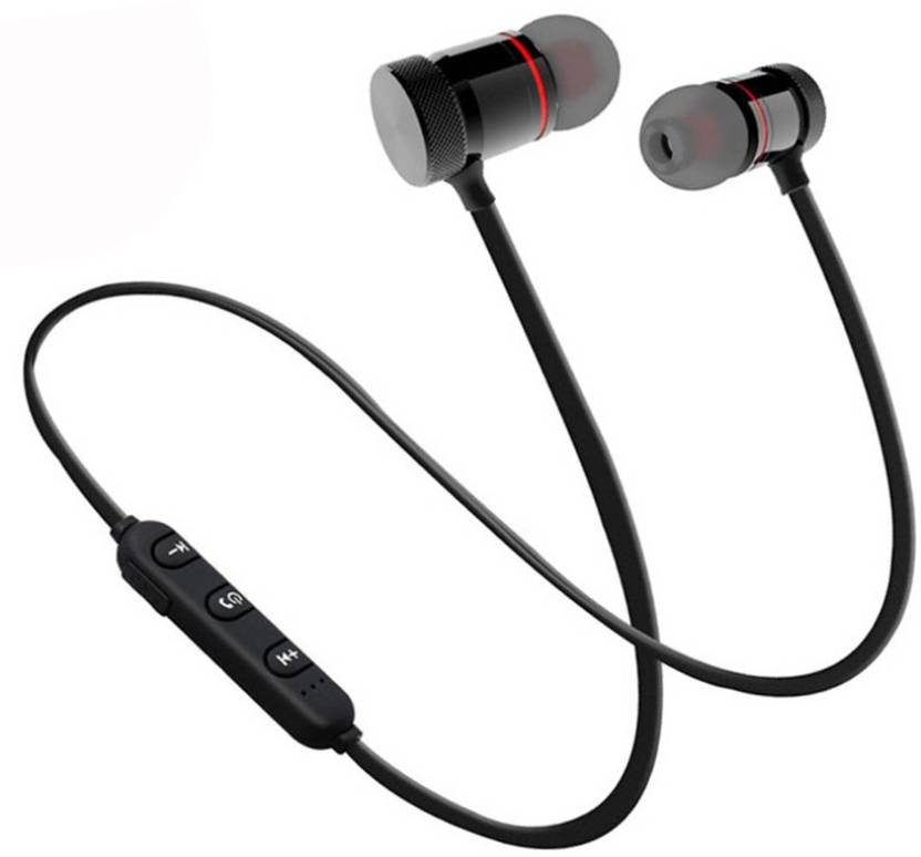 0d312a6cc56daa Padraig Magnetic Wireless Bluetooth Headphones Ear buds Sport Earphones  Bluetooth Headset with Mic (Black, In the Ear)