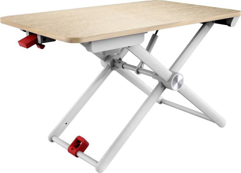 Portronics Wood Portable Laptop Table Finish Color White