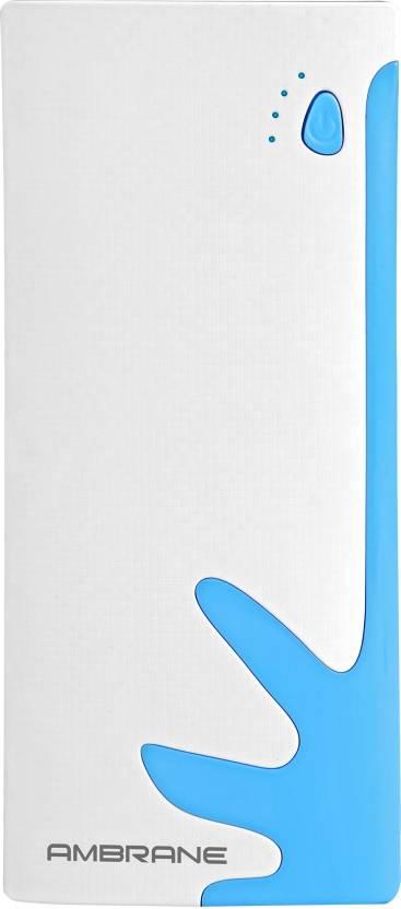 Ambrane 10000 mAh Power Bank  P 1122, NA  White, Blue, Lithium ion  Ambrane Power Banks