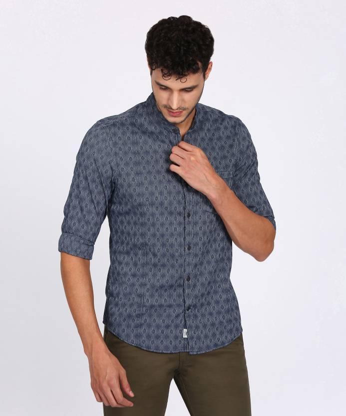 9316a98c53 Indigo Nation Street Men s Self Design Casual Dark Blue Shirt - Buy NAVY Indigo  Nation Street Men s Self Design Casual Dark Blue Shirt Online at Best  Prices ...