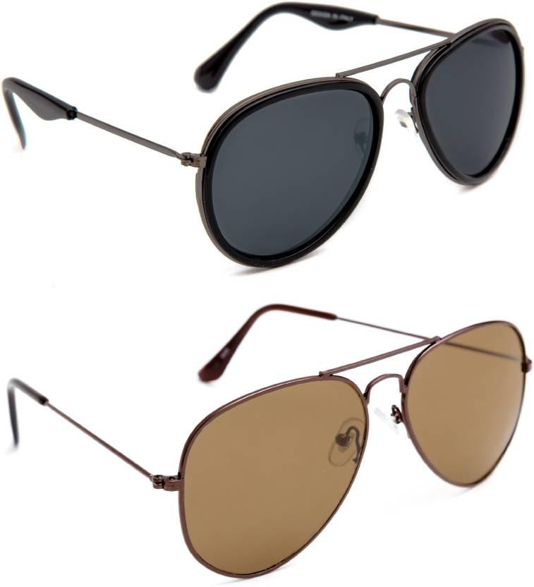 4cb7a07639f3 Buy TheWhoop Aviator Sunglasses Black, Brown For Men & Women Online ...