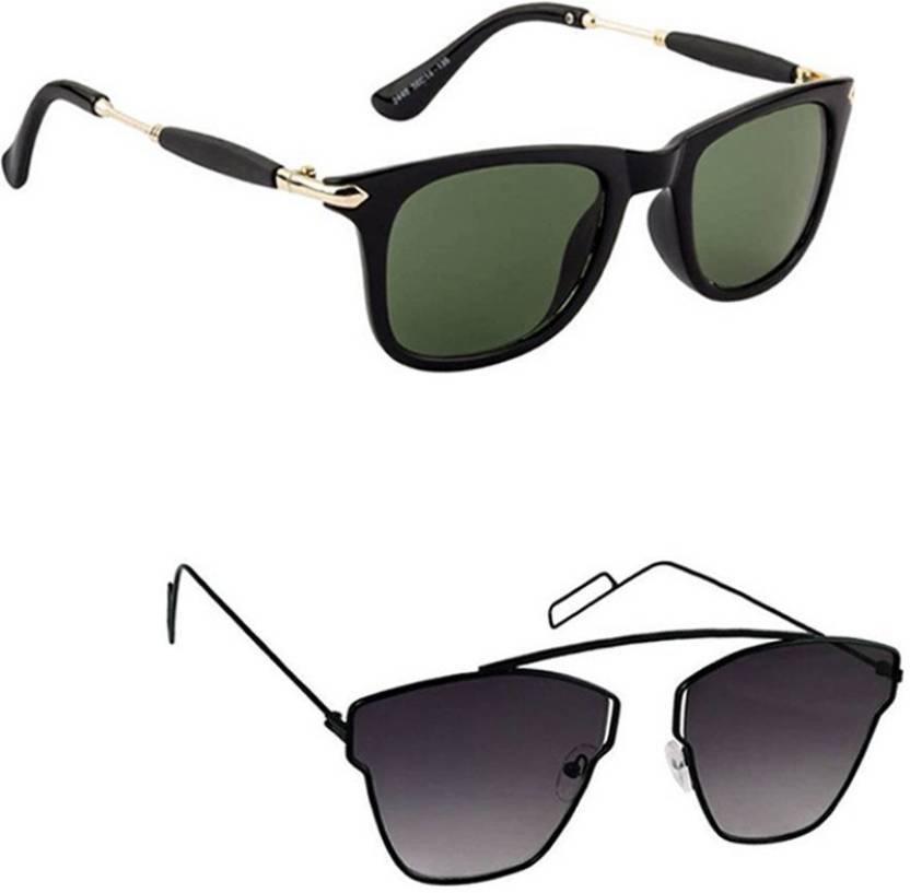 0f5a7562f0 Buy Lee topper Wayfarer Sunglasses Green For Men Online   Best ...