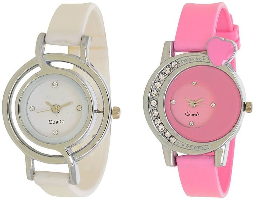 503c93d353f ReniSales Stylish Pink White Dial Multicolor Latest Combo Watch For Women  And Girls Watch - For Girls - Buy ReniSales Stylish Pink White Dial  Multicolor ...