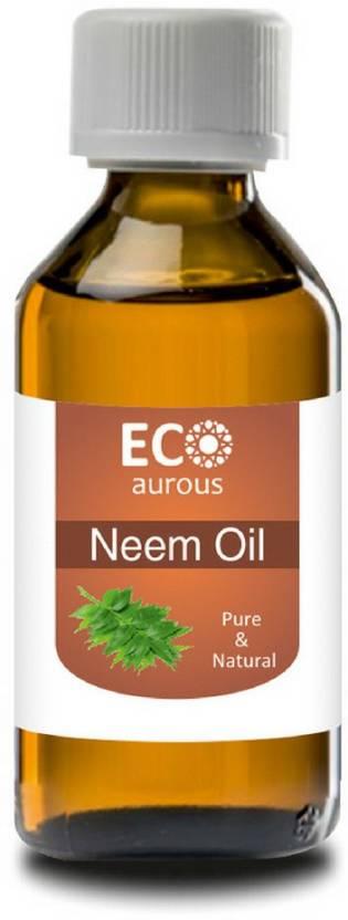 ECO_AUROUS Neem Oil 100% Pure & Natural Essential Oil | Neem Essential Oil  | Neem Oil For Plants | Pure Neem Oil | Cold Pressed Neem Oil | Neem Oil