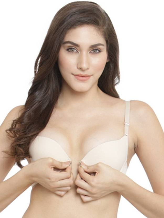 502fb3b10b PrettyCat Front Closure Pushup Bra. Women Push-up Lightly Padded Bra (Beige)
