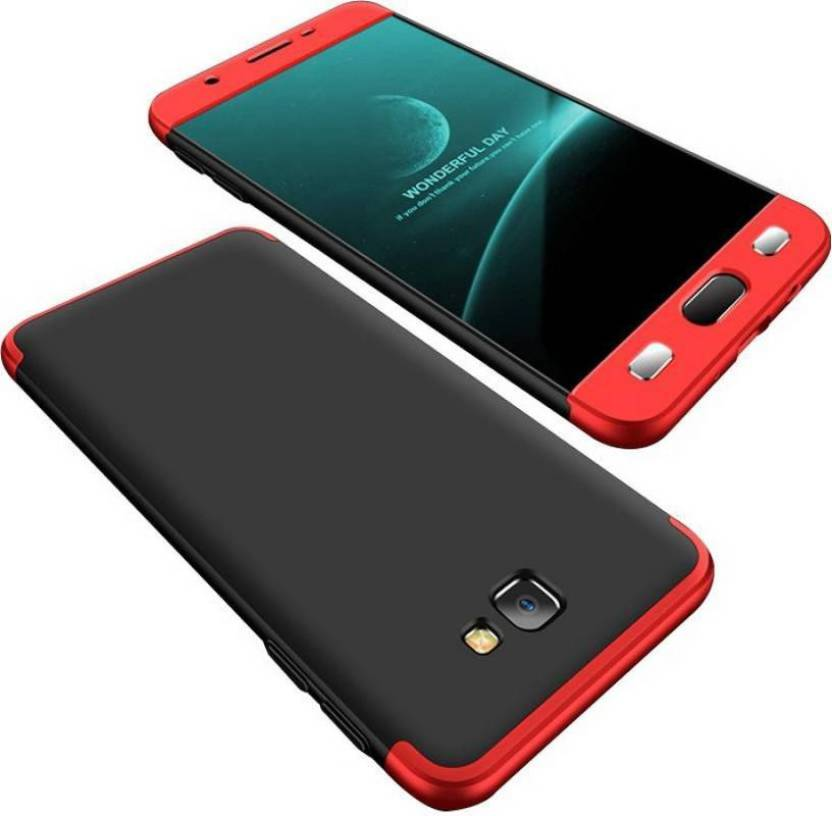OPTEGIC Front & Back Case for GKK-Samsung Galaxy J7 Prime 2 (Gold, 32 GB) (3 GB RAM) (RED & BLACK, Dual Protection, Plastic)