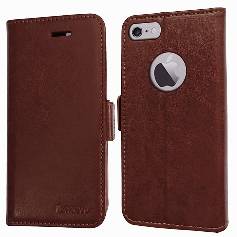 1ddcaf5bf800 Bracevor Wallet Case Cover for Apple iPhone 6s Plus, Apple iPhone 6s Plus  (Executive Brown, Leather)