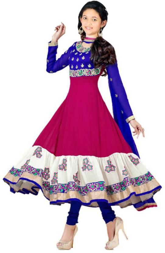 c11b284631a MF Retail Girls Maxi Full Length Casual Dress (Multicolor