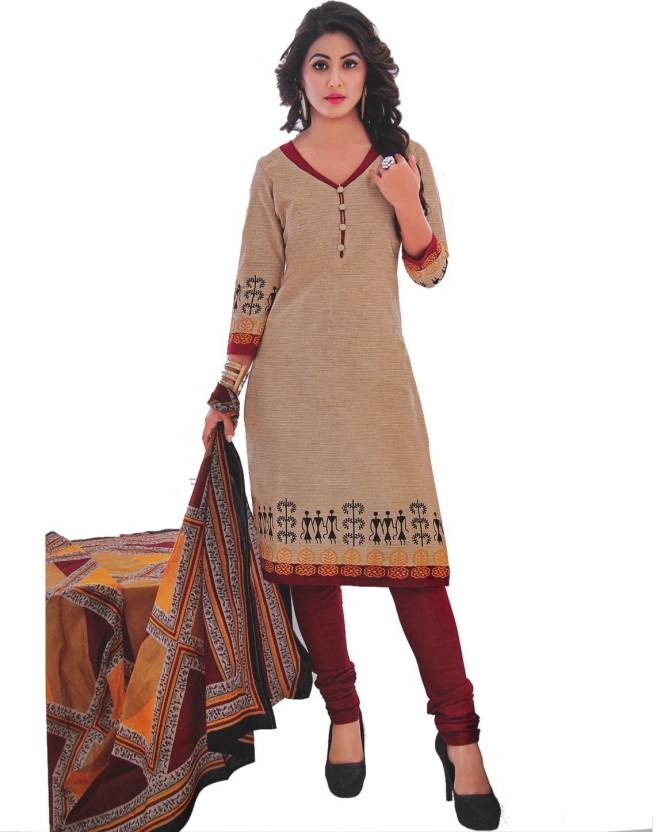 72f9a1ee78 FabTag - Giftsnfriends Cotton Printed Salwar Suit Material Price in ...