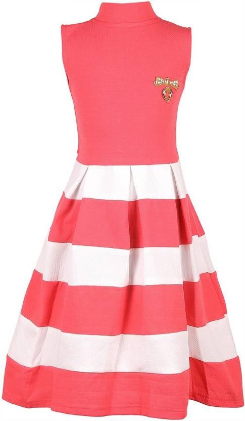 3085005e71a6 FabTag - DELHIITE Girls Midi Knee Length Casual Dress Price in India ...