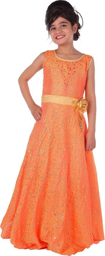 Fabtag Delhiite Girls Maxifull Length Party Dress Price In India