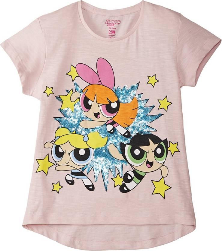 6cc13b758 Powerpuff Girls Girl's Graphic Print Cotton T Shirt Price in India ...
