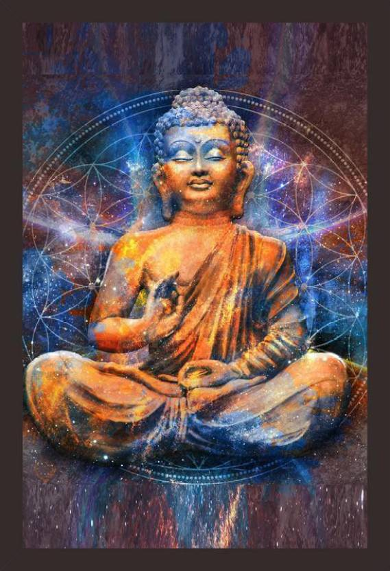 Mad Masters Mad Masters Seated Buddha in a Lotus Pose digital art