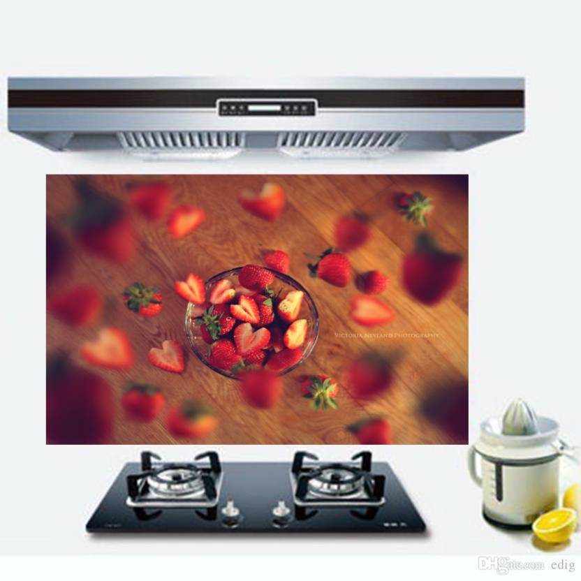 Total Home Medium Very Berry Strawberry Wallpaper Kitchen Wall Decor