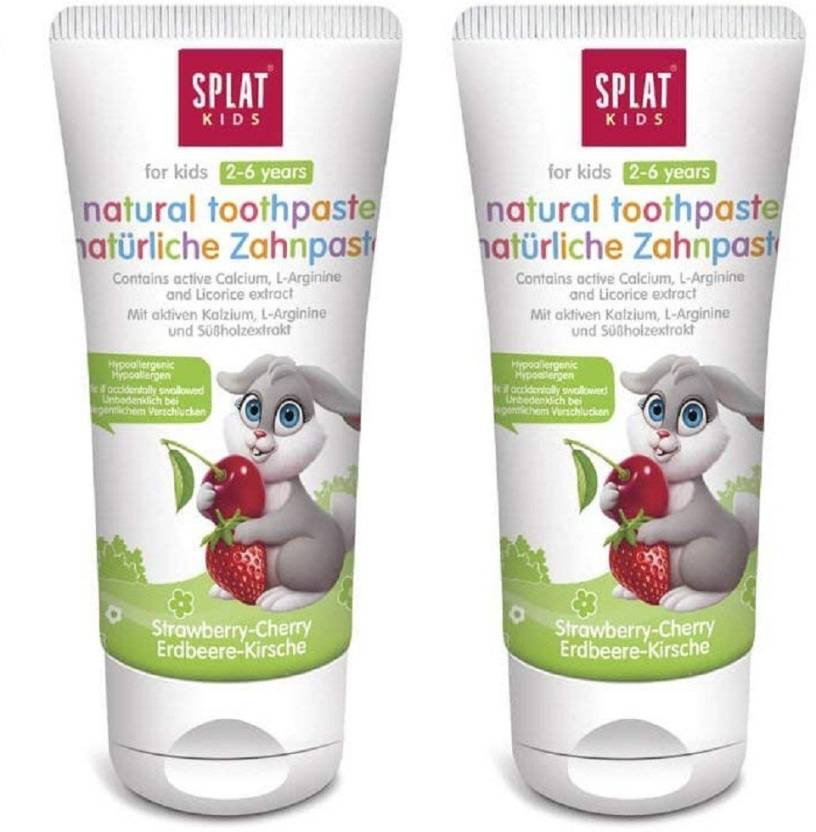 SPLAT Kids Toothpaste (2-6 Years) 98% Natural Free from SLS/SLES