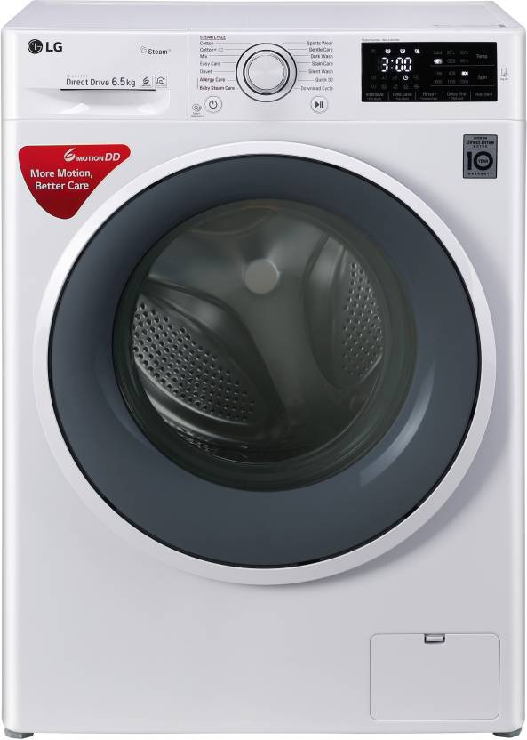 LG 6.5 kg Fully Automatic Front Load Washing Machine White(FHT1265SNW)
