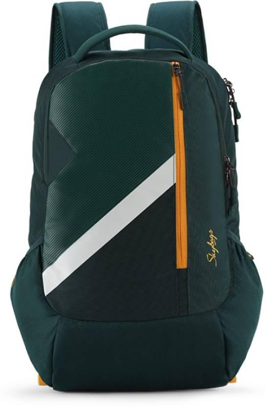 914b3f08e Skybags FELIX 02 SCHOOL BAG DARK GREEN 50 L Laptop Backpack Green ...