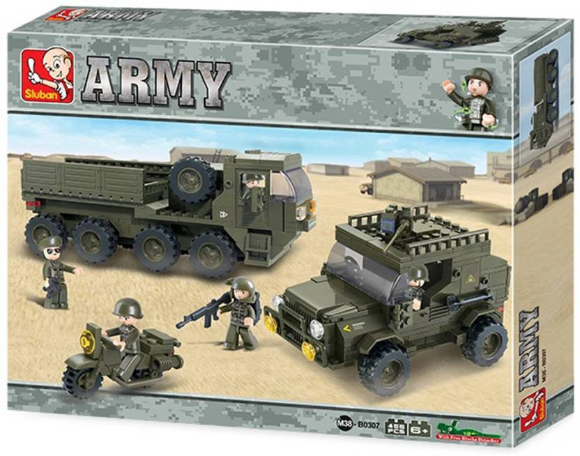 Sluban Army Set Educational Building Block Toys | 403 Pieces