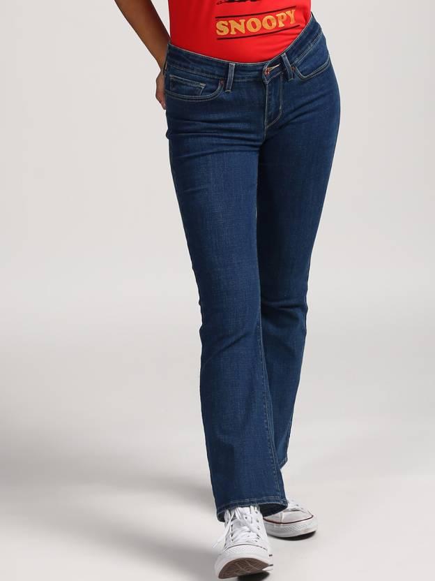 44888de9ee Levi s Boot-Leg Women s Blue Jeans - Buy Blue Levi s Boot-Leg ...