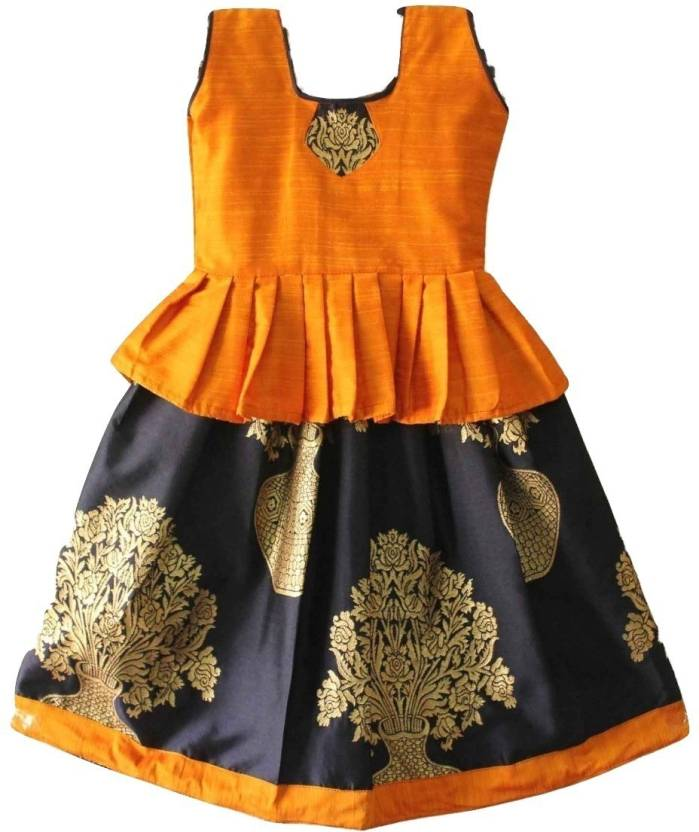 fbf4f2079c TrendyKidz Girls Lehenga Choli Ethnic Wear Floral Print Lehenga Choli  (Yellow, Pack of 1)