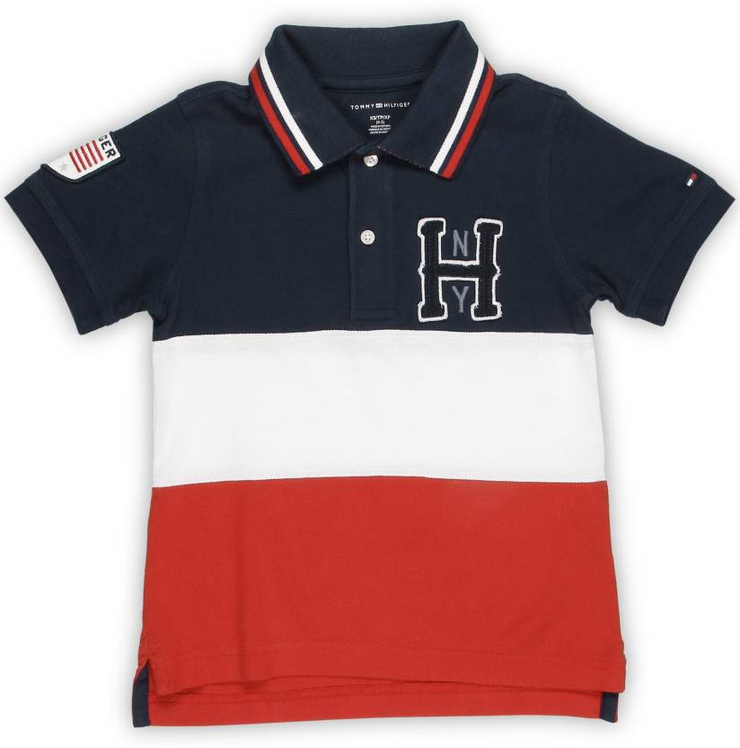 7c02b5221c56 Tommy Hilfiger Boys Solid Cotton T Shirt Price in India - Buy Tommy ...