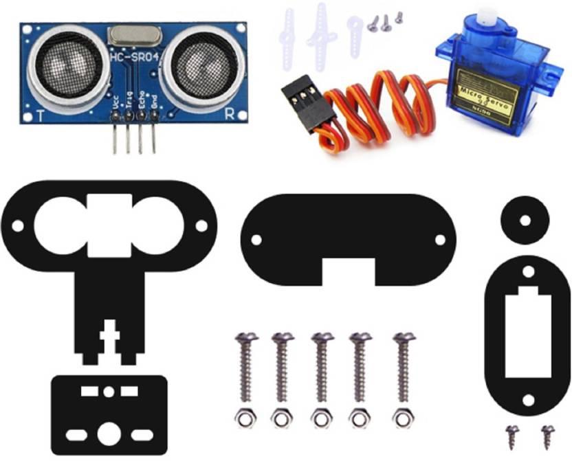 Kit4Curious HC-SR04 Ultrasonic sensor + Servo SG90 with Holder and  instruction manual