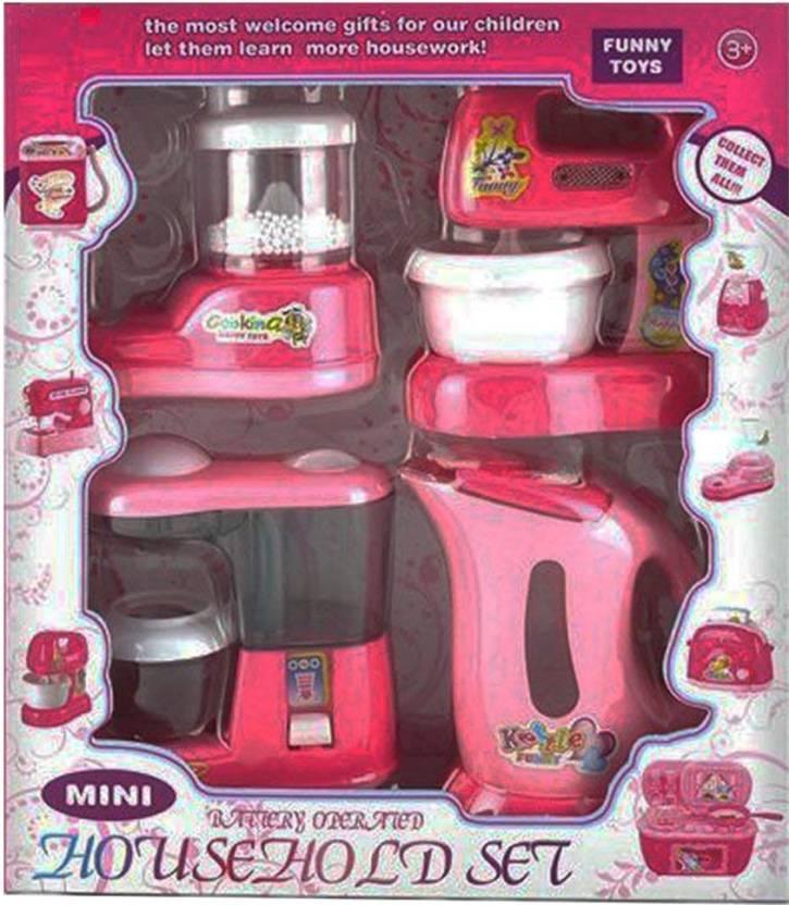 Saisan House Hold Play Set Mini Household 4 In 1 Set Kitchen Set