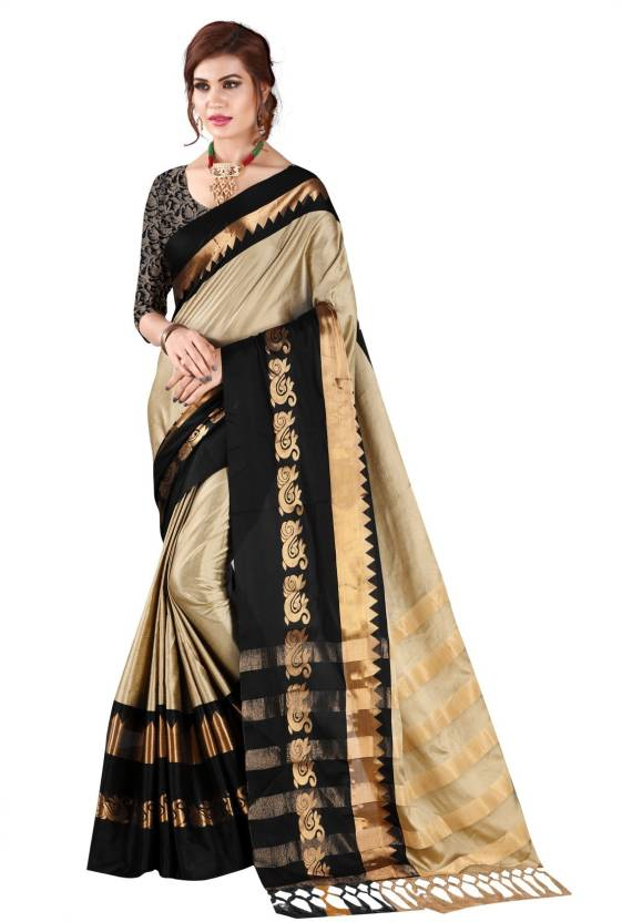 07f83674a56 Bombey Velvat Fab Striped Paithani Cotton Silk, Cotton, Silk, Silk Cotton  Blend,