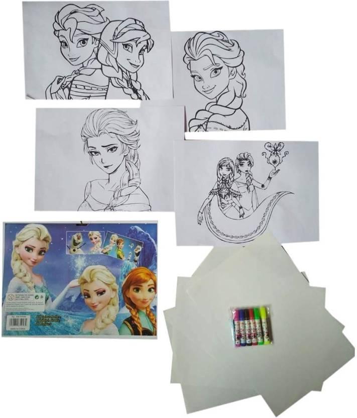 Garaage Drawing Sheet Cartoon Painting Art Kit For Kids Ideal For