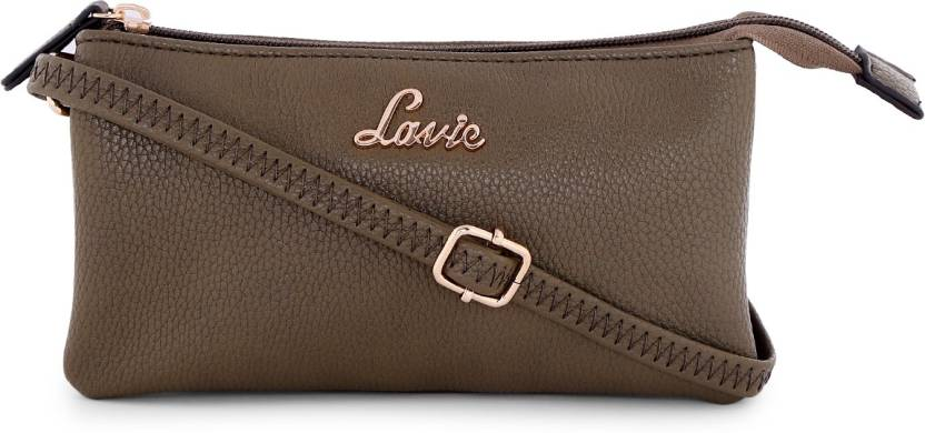 e109aa72d54 Lavie Women Evening Party Brown Leatherette Sling Bag Green - Price in India