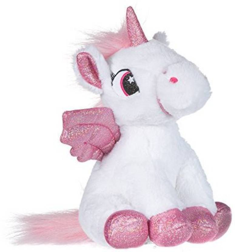 Toyland Unicorn 9 Soft Plush Toy With Wings White 4 8 Inch