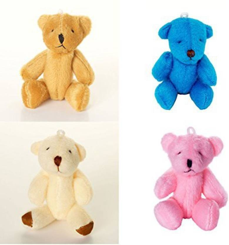 0c5db43472 Generic London Teddy Bears New - 20 Cute Small Cuddly 5 X Brown Pink White  Blue - 3.15 inch (Multicolor)