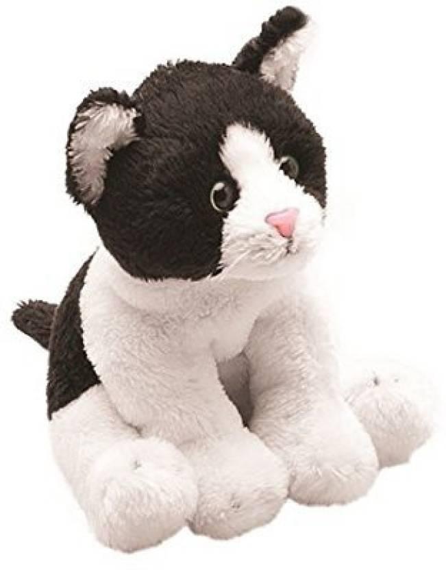 Generic Suki Yomiko Classics Cat Sitting Plush Toy Black White 7 Cm