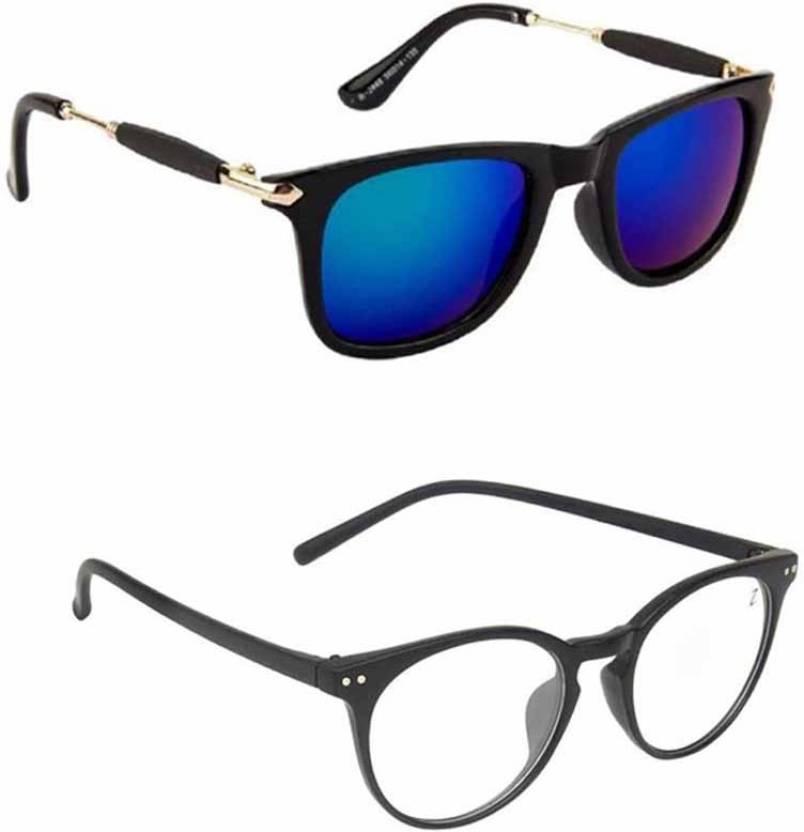 dea92e54448 Buy Lee topper Wayfarer Sunglasses Blue For Men Online   Best Prices ...