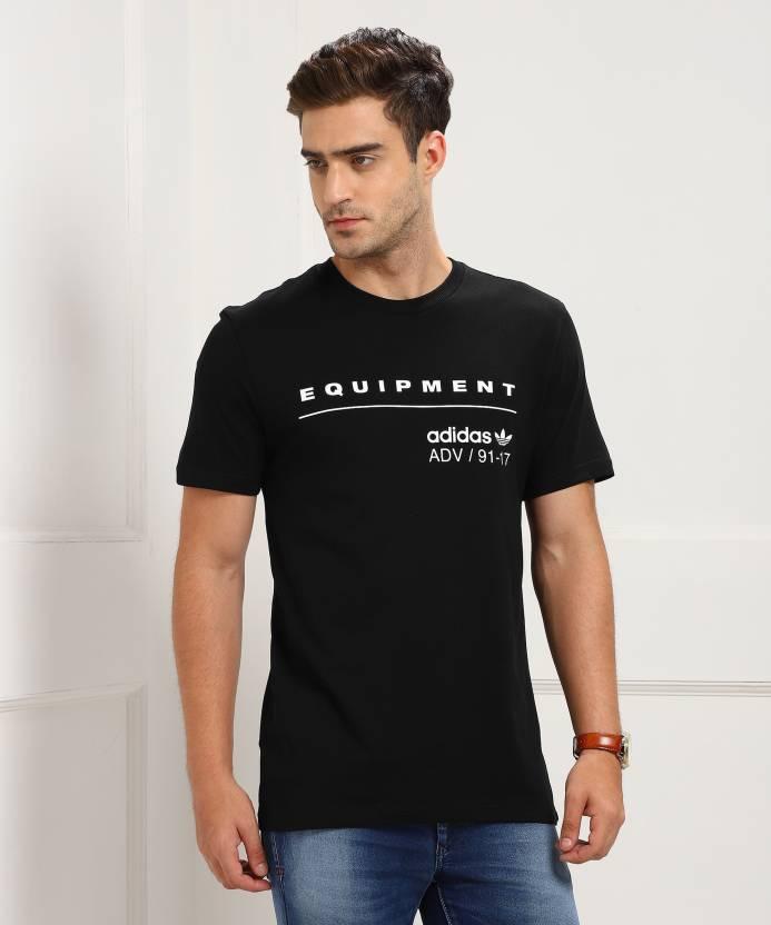 wholesale dealer c2c0d bfd5b ADIDAS ORIGINALS Printed Men s Round Neck Black T-Shirt - Buy Black ADIDAS  ORIGINALS Printed Men s Round Neck Black T-Shirt Online at Best Prices in  India ...