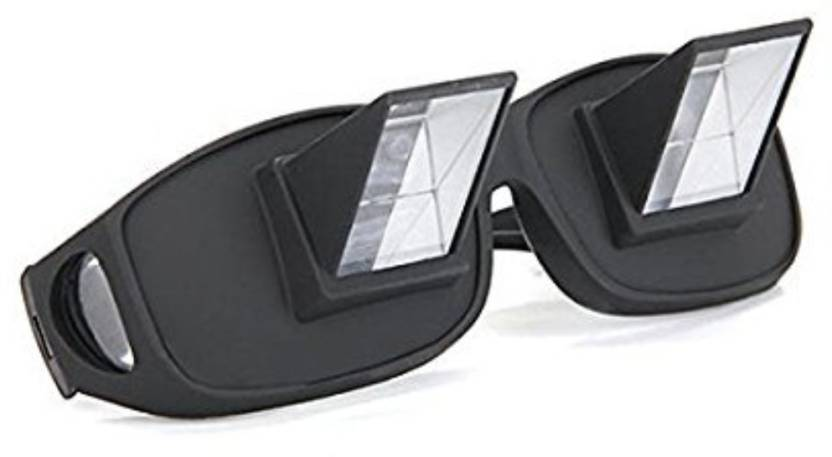 3b971465ed2 ZURU BUNCH High Definition Horizontal Lazy Reader Glasses for Book Reading  High Quality Periscope TV Watching Glasses E-reader (1 inch Screen Black)