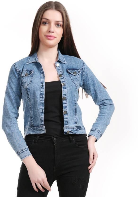 1158da9e2357 Mia Fashion Full Sleeve Self Design Women Denim Jacket - Buy Mia Fashion  Full Sleeve Self Design Women Denim Jacket Online at Best Prices in India  ...