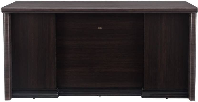 Durian THEON Engineered Wood Office Table Free Standing, Finish Color   Smoke Oak