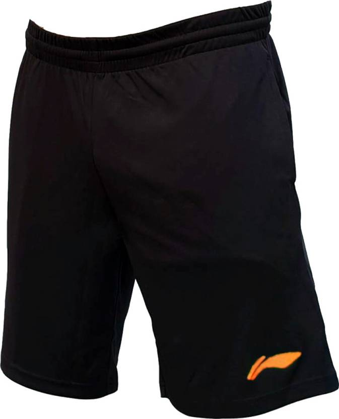 20e81f07b0 Li-Ning Solid Men Black, Orange Sports Shorts - Buy Li-Ning Solid Men  Black, Orange Sports Shorts Online at Best Prices in India | Flipkart.com