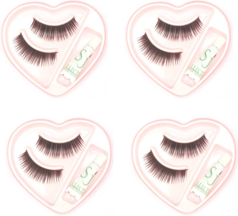 e3bf5b2000e SJ COLLECTION Natural Black False Eye Lashes ( Pack 4 ) - Price in ...