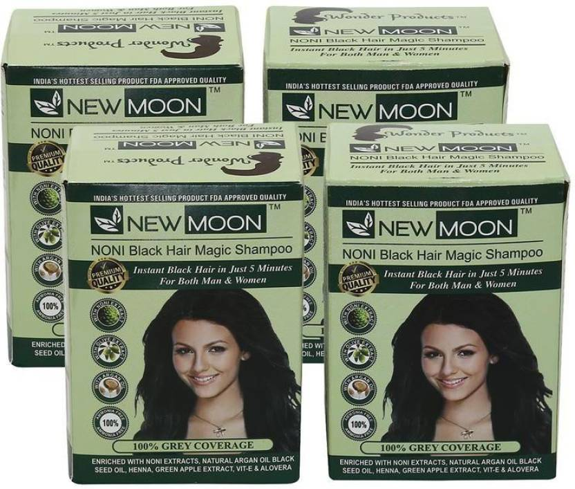New Moon Pack Of 80 Pcs 15 Ml Noni Hair Colour Shampoo Hair Color