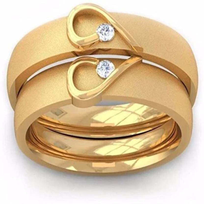 d3e4f1ef60 Silver spark COUPLE BAND yg3 Alloy Cubic Zirconia Yellow Gold Plated Ring  Set Price in India - Buy Silver spark COUPLE BAND yg3 Alloy Cubic Zirconia  Yellow ...