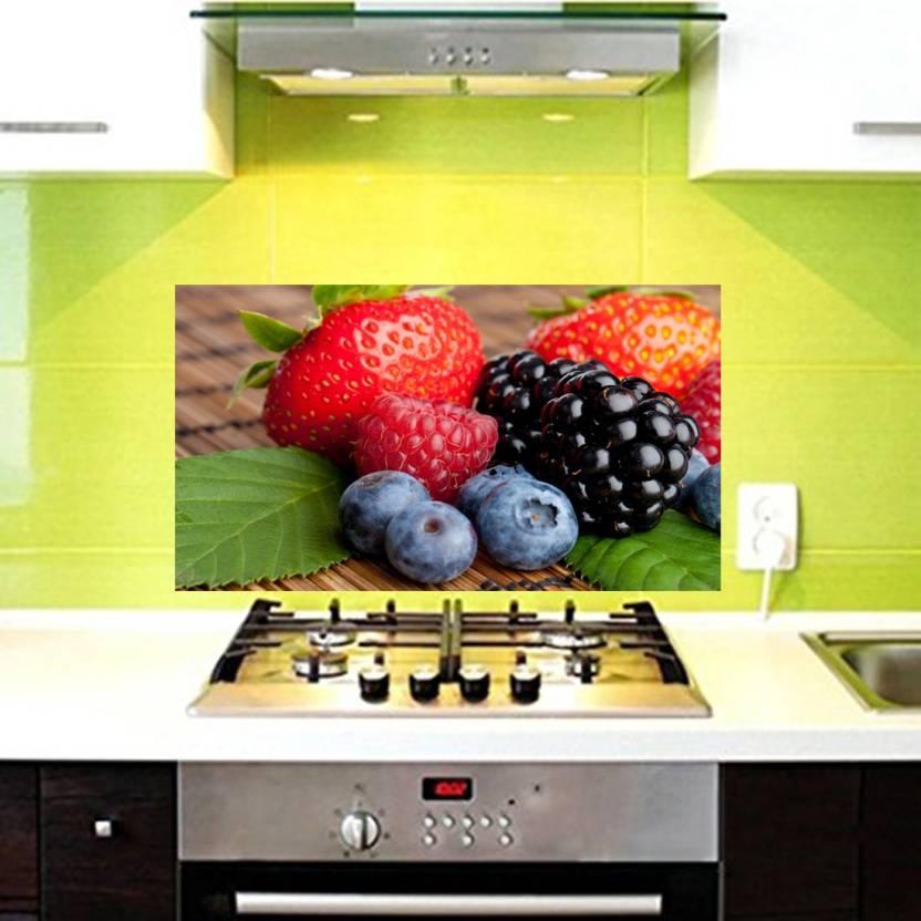 Total Home Medium Fruits Wallpaper Kitchen Wall Decor Sticker