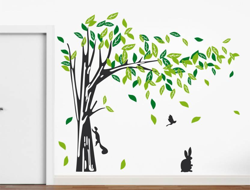 happy walls falling leaves wall stickers price in india - buy happy