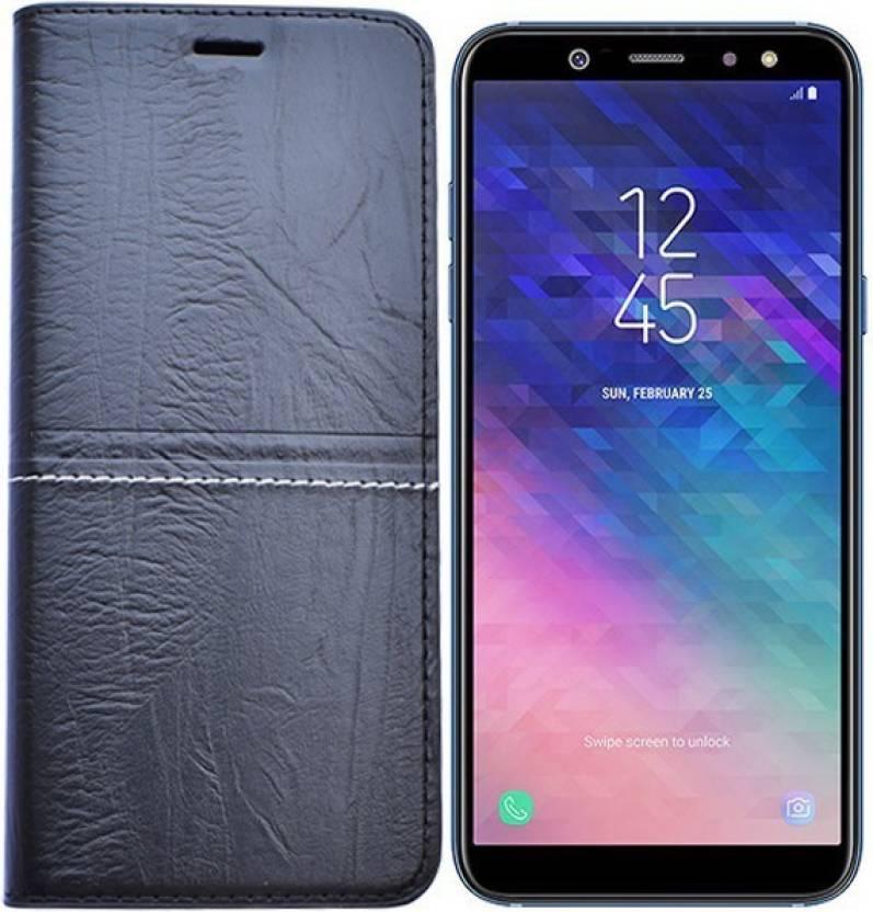 brand new adf3c 0f6da Marshland Flip Cover for Samsung Galaxy A6 Plus leather Genuine ...
