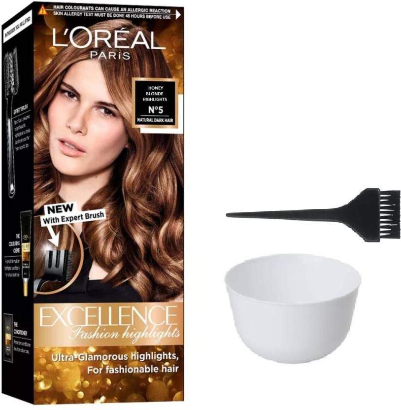 Loreal Excellence Honey Blonde Highlights No 5 Hair Color 1 Bowl